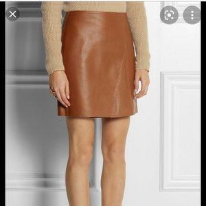 3.1 Phillip Lim Camel Leather mini skirt